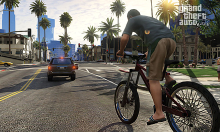 Grand Theft auto five bicycle