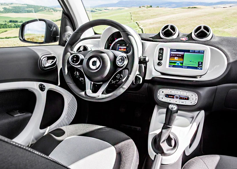 Салон новых Smart ForTwo и ForFour