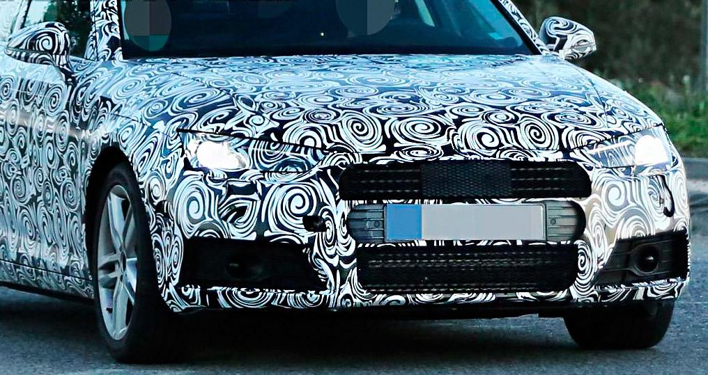 несколько новых фотографий нового поколения седана Audi A4 2016 во время дорожных тестов в Германии