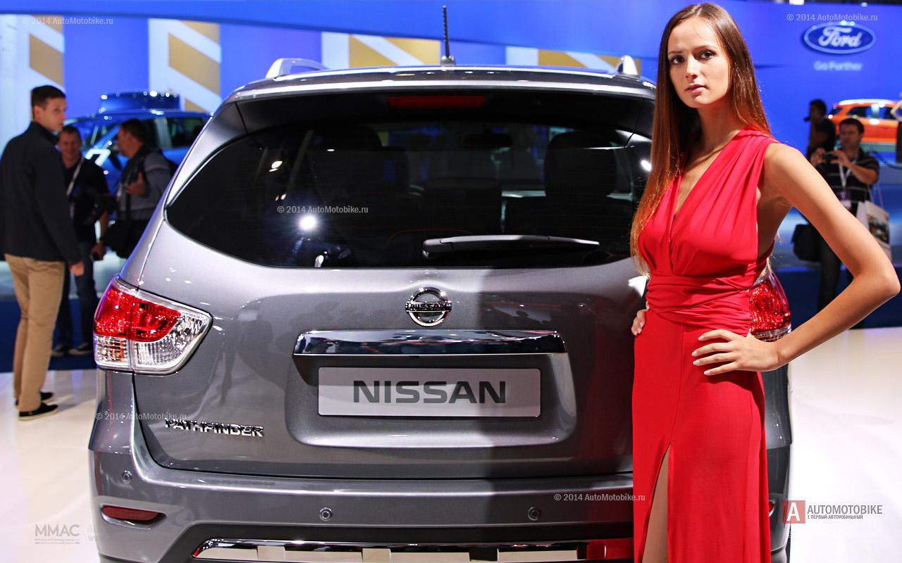Nissan Pathfinder Hybrid 2014 фотографии внедорожника на ММАС 2014 в Москве август