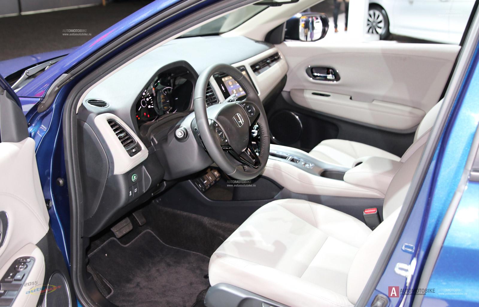 2016 Honda HR-V фотографии и обзор интерьера салона кроссовера
