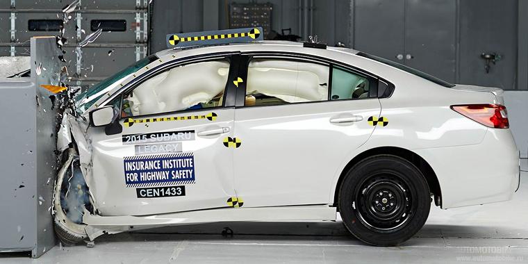 2015 Subaru Legacy краш тест от IIHS фотографии результаты