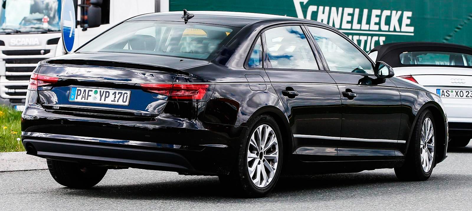 2016 Audi A4 фотографии шпионские