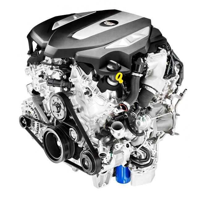 Новый двигатель Кадиллак ЦТ6. Cadillac CT6 твин-турбо 3,0-литровый двигатель V6, развивающий около 400 л.с.