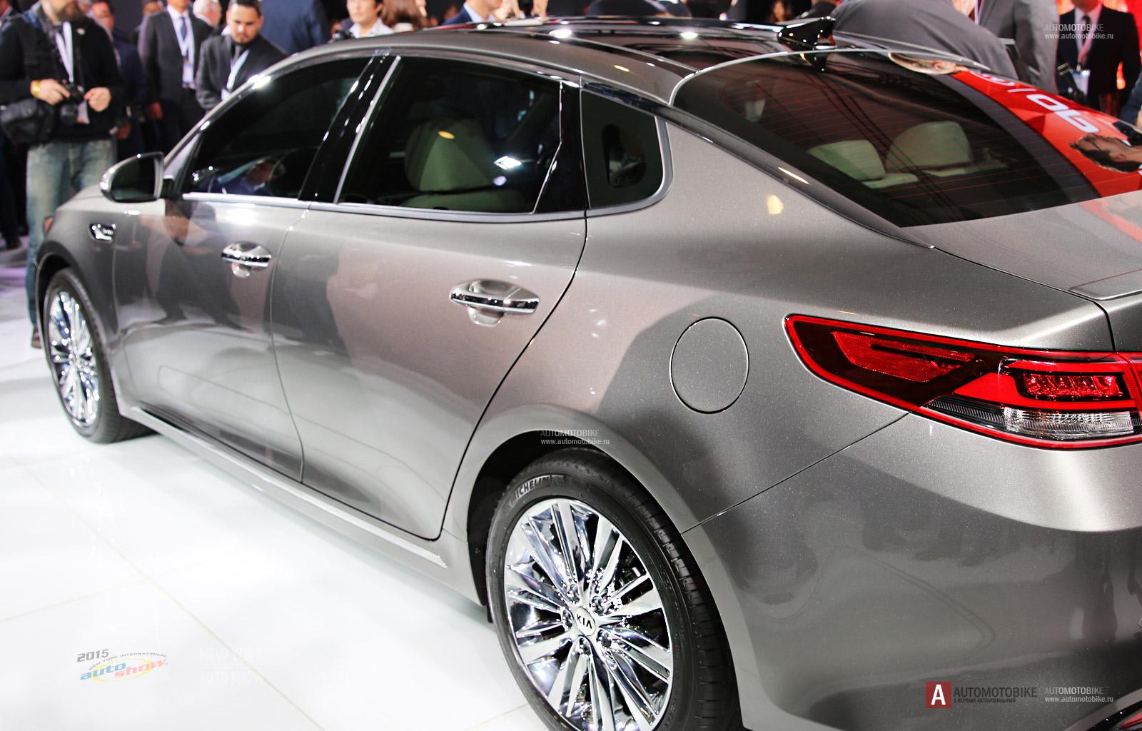 Новая Киа Оптима 2016 модельного года на автосалоне в Нью Йорке полный обзор NYIAS KIA Optima 2016 next generation