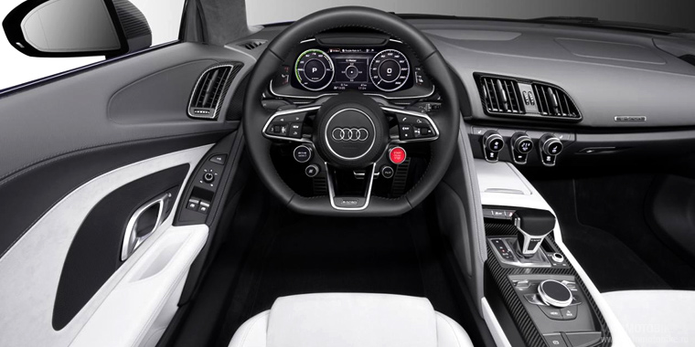 Салон Audi R8 e-tron piloted driving