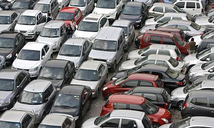Парковка в городе