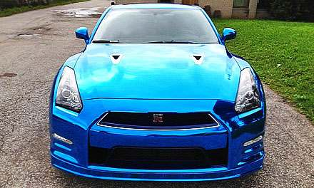 Nissan GT-R Blue Chrome