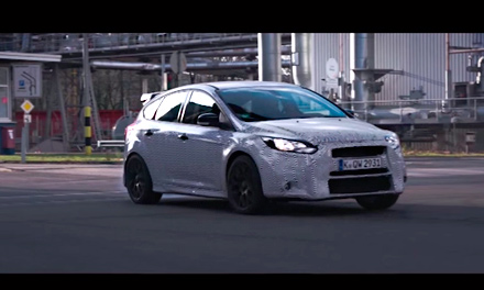 Дрифт на Ford Focus RS
