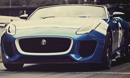 Суперкар Jaguar PROJECT 7 на фестивале
