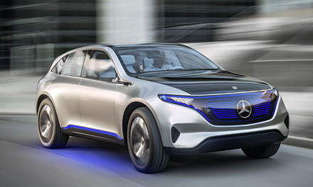 Презентация Mercedes EQ Electric Car 2017