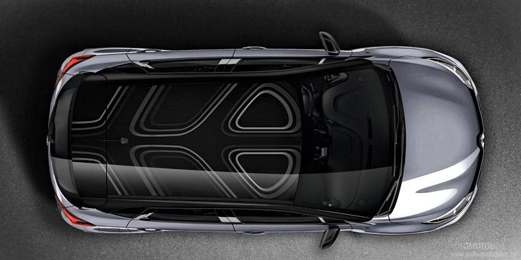 Renault Captur Pure вид сверху