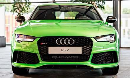 Audi RS7 Apple Green Metallic